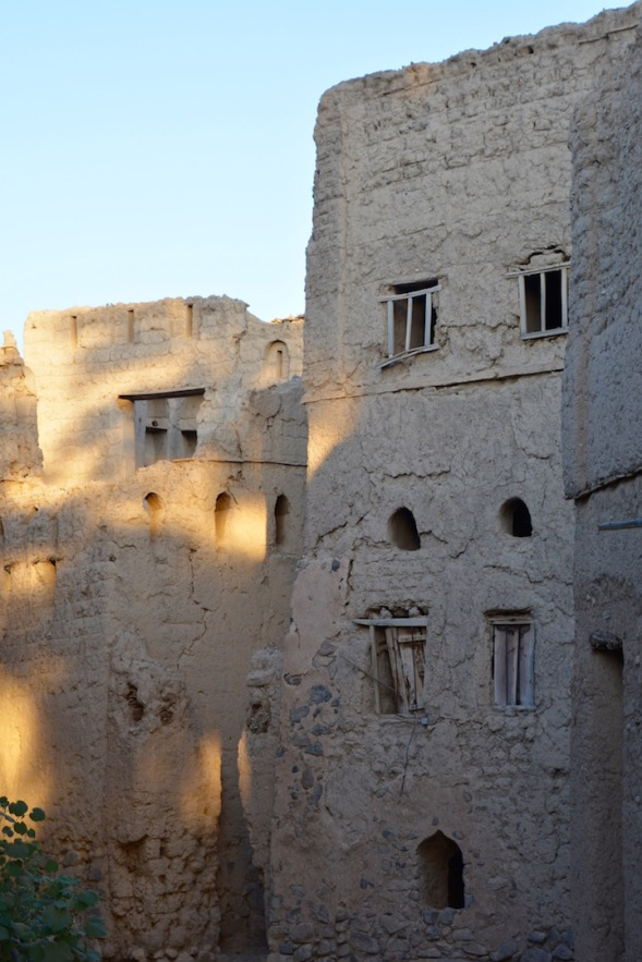 The windows form faces in the old city...