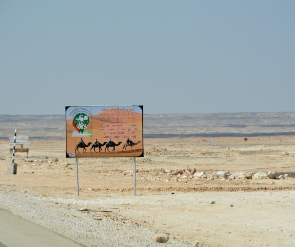 Now you know where to book a Camel trek if you ever happen to pass down this lonely road...