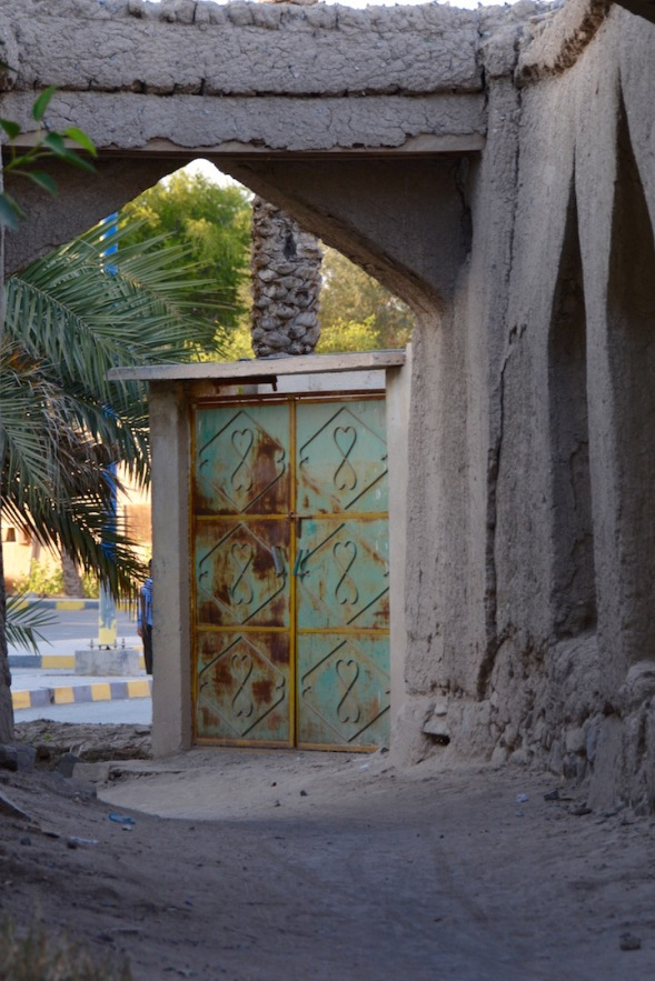 Heading into the old alleys, I looked back and caught this door...