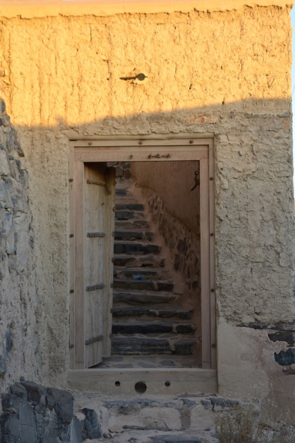 Through those doors, where do those stairs go?
