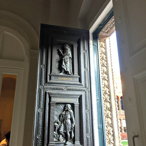 And the open door from the inside, upper half...