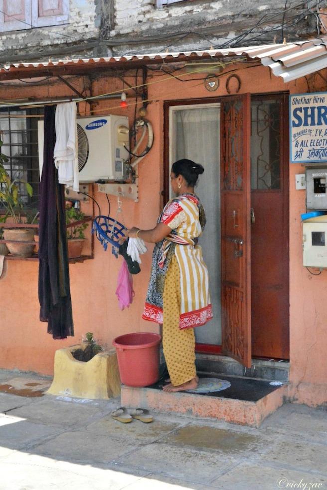 Door step drying...