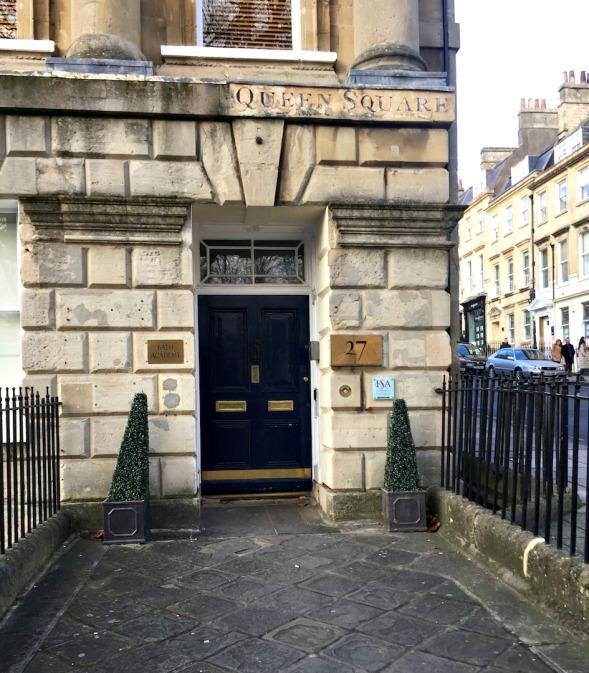 Lovely stonework surrounding this elegant door...