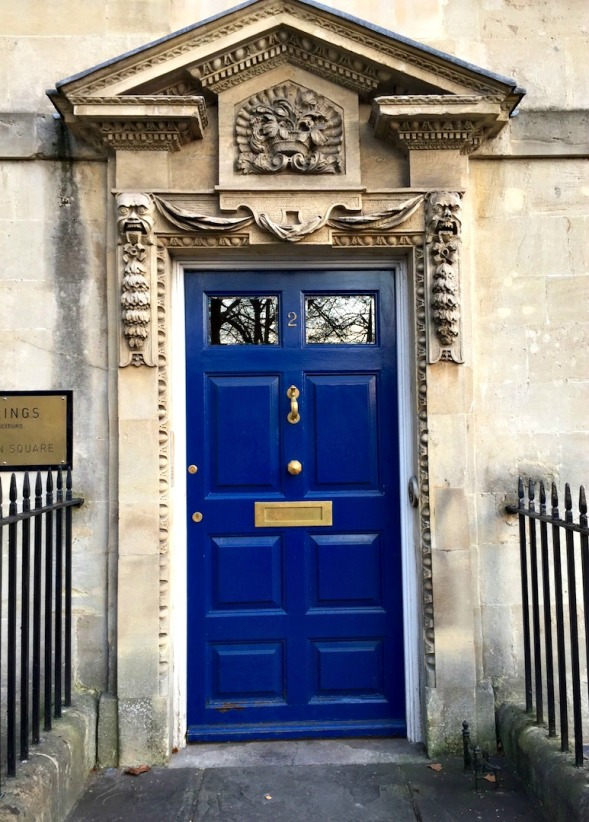 The architrave and carved surrounds are the star's here, but it's a worthy door...