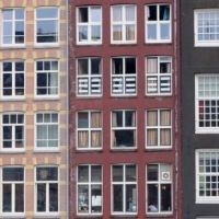 Monday Window: Window walls in old Amsterdam, 17/4/17...