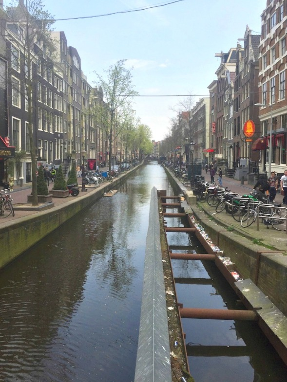 Narrow canals and streets in the heart of old Amsterdam...