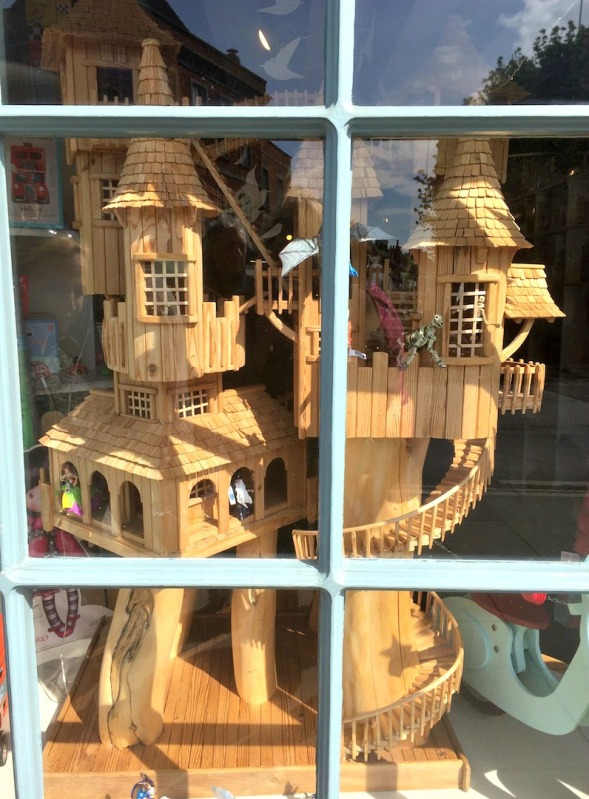 Or a Castle behind glass...