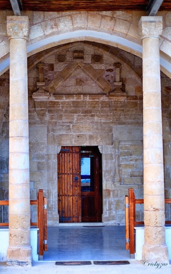 Door at Apostolos Andreas Monastery...