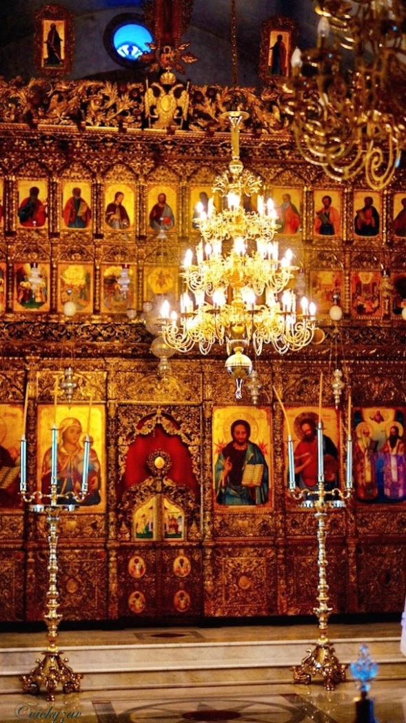 The Iconostasis at Apostolos Andreas Monastery...