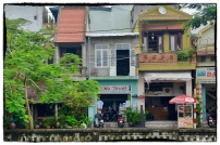 Traditional houses along one of the rivers...
