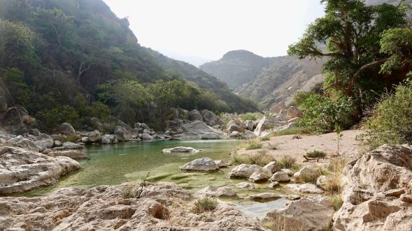 Wadi Sayq pools...The accessible part of the Wadi...