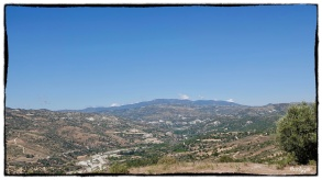 Towards Troodos, spot the listening station atop...